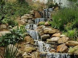 sloped garden waterfalls attractive garden waterfalls gallery