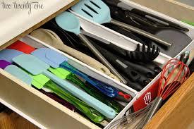 how to organize kitchen utensil drawer organizing the kitchen utensil drawer two twenty one