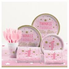 1st birthday party supplies one girl 1st birthday party supplies kit target