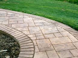 How Much Is A Stamped Concrete Patio by A Side By Side Comparison Of Stamped Concrete And Pavers