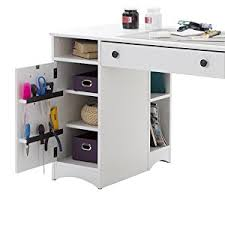 desk with shelves on side amazon com artwork craft table with storage large work surface