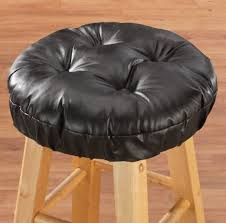 Leather Chair Cushions And Pads Amazon Com Walterdrake Faux Leather Tufted Bar Stool Cushion