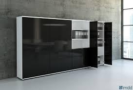 armoire de rangement pour bureau bureau bois et noir eyebuy