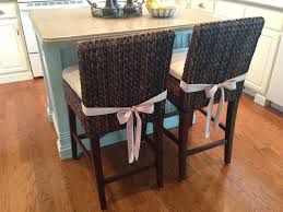 dining room pretty seagrass counter stool design with comfy white