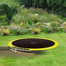 rebo 12ft base jump in ground trampoline