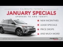 Car Dealerships On Cape Cod - january 2017 toyota specials at falmouth toyota bourne ma cape