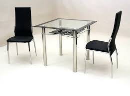 table and 2 chairs set round table and 2 chairs small square glass dining table and black