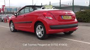 peugeot second hand cars mj14mfo peugeot 207 cc active 1 6l toomey peugeot used cars youtube