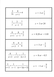 multiplying algebraic fractions worksheet solving equations with