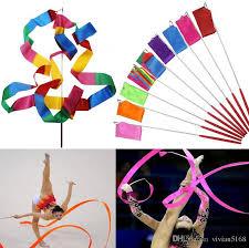 ribbon streamers women ribbon streamer rhythmic rod girl gymnastic