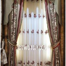 Vintage Green Curtains Luxury White And Green Vintage Privacy Print Floral Curtains