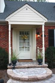 exterior interesting small front porch decoration using dark brown