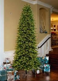 artificial tree slim aspen fir lit 9 ft dual color trees 6