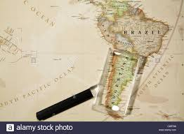 Continent World Map by Close Up Of South American Continent World Map With Magnifying