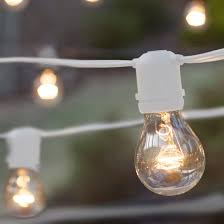 commercial patio string lights clear a19 bulbs white wire yard