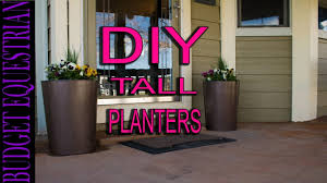 Buy A Planter How To Make Tall Flower Planters Easy And Inexpensive Youtube