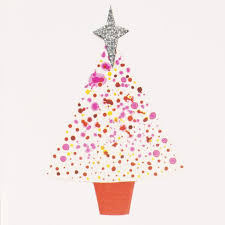 pink christmas tree pink christmas tree mini greeting card mini006 artists on cards ltd