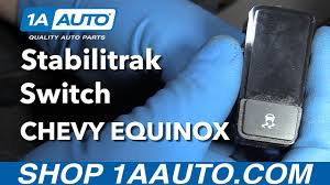 how to install replace stabilitrak switch 2008 chevy equinox youtube