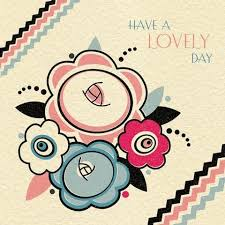 art deco floral have a lovely day card karenza paperie