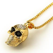 long chunky chain necklace images 29 5 quot new golden jewelry iced out hip hop men skull pendant jpg