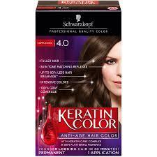 schwarzkopf keratin color anti age hair color cream 4 0