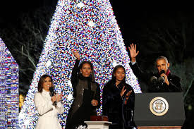 the obamas light national tree for the time nbc news
