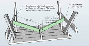 Plans For Building Picnic Table Bench by Ana White How To Build An Picnic Table Diy Projects