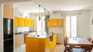 cuisine jaune citron jaune couleur déco peinture inspiration côté maison