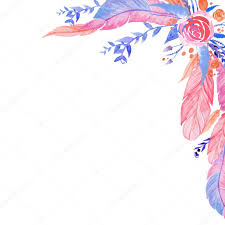 Invitation Card Designing Boho Chic Style Invitation Card Design Watercolor Roses Leaves