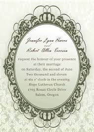 vintage wedding invitations cheap vintage framed green damask wedding invitations ewi178 as low as