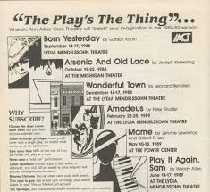 ann arbor civic theatre program the music man may 18 1988 ann