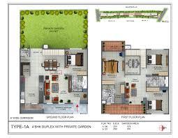 4bhk House Duplex Bungalow House Plans Diy 80trees 4bhk 2 Plan Unforgettable