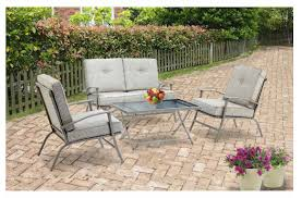 Mainstays Patio Furniture by Mainstays Zahara 4 Piece Folding Patio Conversation Set 149 Down