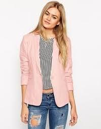 light pink blazer womens malani light pink bardot military style blazer 35 liked on