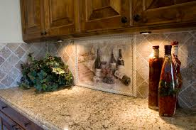 Kitchen Mural Backsplash Kitchen Beautiful Kitchen Design Ideas With Wine Mural Tile