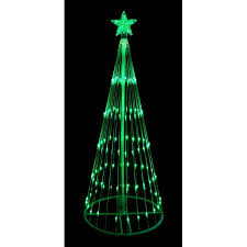 led christmas tree 9 green led light show cone christmas tree lighted yard