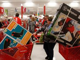 target amarillo black friday target shoppers wait in line online on cyber monday target and