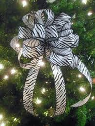 black white tree top bow zebra by waterhousefloral