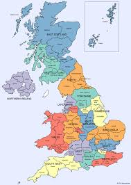 counties map map of regions and counties wales scotland i is at uk