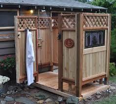 Outdoor Shower Enclosure Camping - outdoor shower ideas for camping home interior u0026 exterior