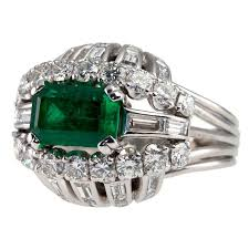 diamond cocktail rings emerald and diamond cocktail ring for sale at 1stdibs