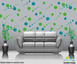 penguin 2 vinyl decal 3451 3 47 decal rocket online store lime green and turquoise circle polka dot wall decal stickers