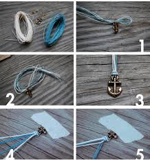 anchor braided bracelet images Nautical diy fishtail braided anchor bracelet styleoholic jpg