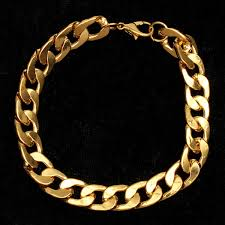 metal men bracelet images Gold plated solid metal men necklace bracelets at banggood sold out jpg