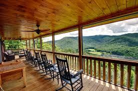 deck u0026 porch tour above the clouds cabin blue ridge ga