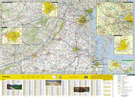 Virginia Map With Cities And Towns by Virginia National Geographic Guide Map National Geographic Maps