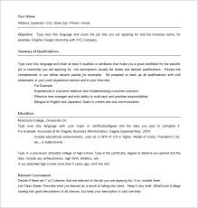 Job Objective On Resume by Combination Resume Template U2013 10 Free Word Excel Pdf Format