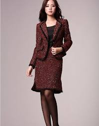suit dress autumn winter 100 high classic edges grace wool dresses