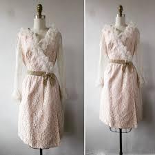 vintage dress vintage 1960s dress lace ruffled and velvet