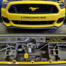 mustang grill emblems upr s550 mustang color front grill floating pony emblem with